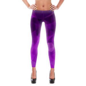 Leggings – Purple Geo