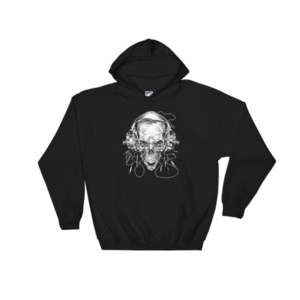 Barbell Skull Hooded Sweatshirt